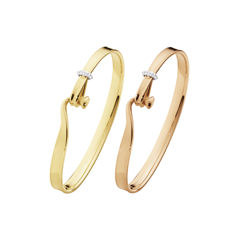 TORUN bangle set - yellow gold, rose gold and diamonds.