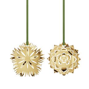 2020 Holiday Ornaments, Ice Dianthus & Rosette
