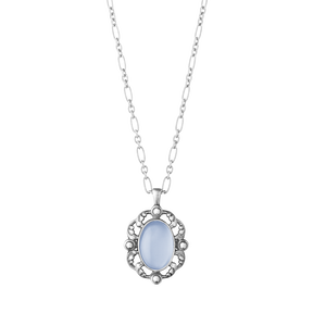 2018 HERITAGE pendant - sterling silver with blue chalcedony