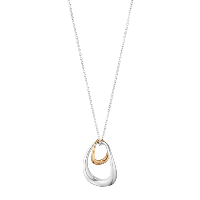 OFFSPRING pendant - sterling silver and 18 kt. rose gold