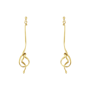 FORGET-ME-KNOT earrings - 18 kt. yellow gold