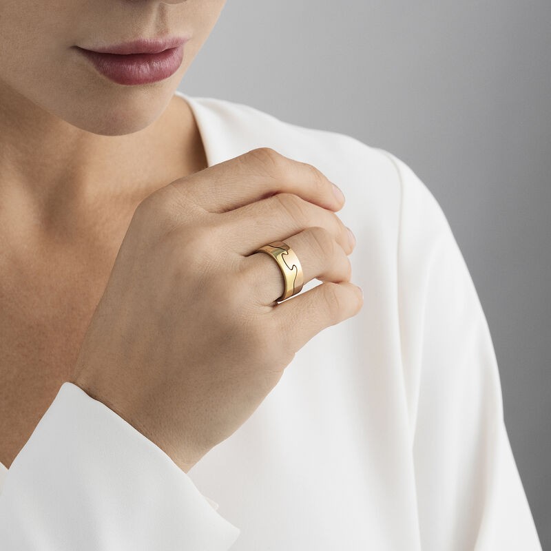 FUSION end ring  gold yellow