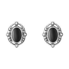 2018 HERITAGE earclips - sterling silver with black onyx