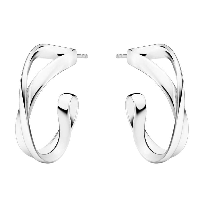 INFINITY earhoops - sterling silver, small