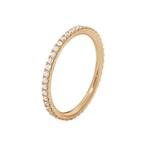 AURORA ring - 18 kt. rose gold with brilliant cut diamonds