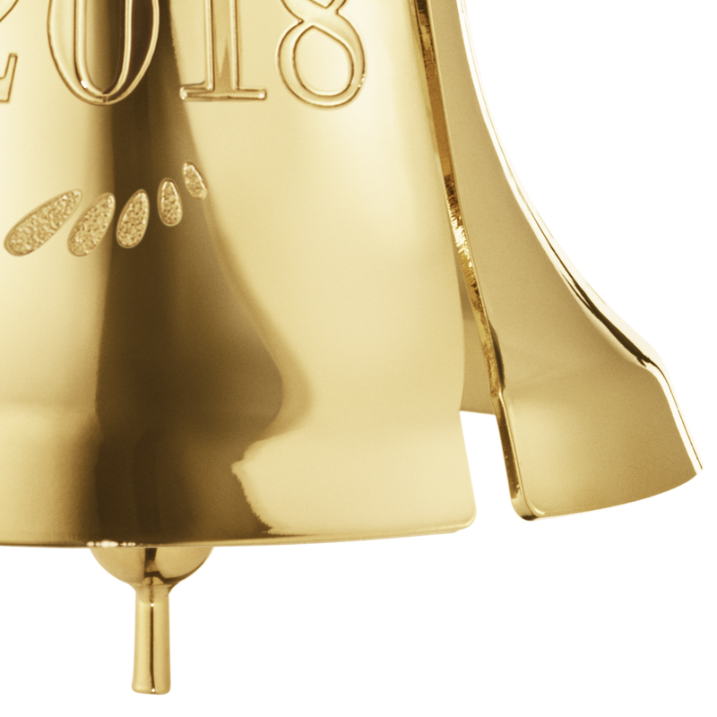 2018 Christmas Bell - gold plated