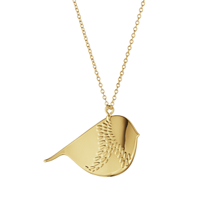 2018 Ornament Winter Bird - gold plated