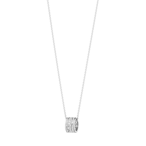 Fusion Pendant 18 Kt White Gold With Full Pave 0 35 Ct