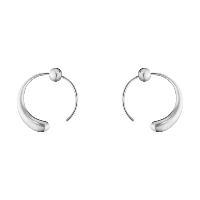 MERCY, large earhoop sterling silver