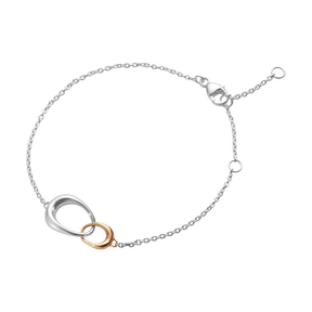 OFFSPRING bracelet - sterling silver and 18 kt. rose gold