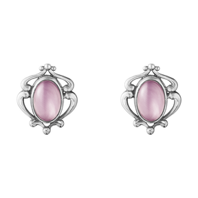 2019 HERITAGE earclips - sterling silver with lilac quartz