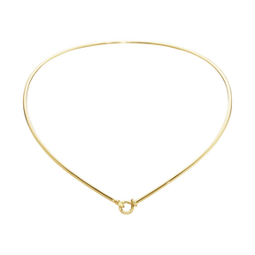 DEW DROP neck ring - 18 kt. yellow gold