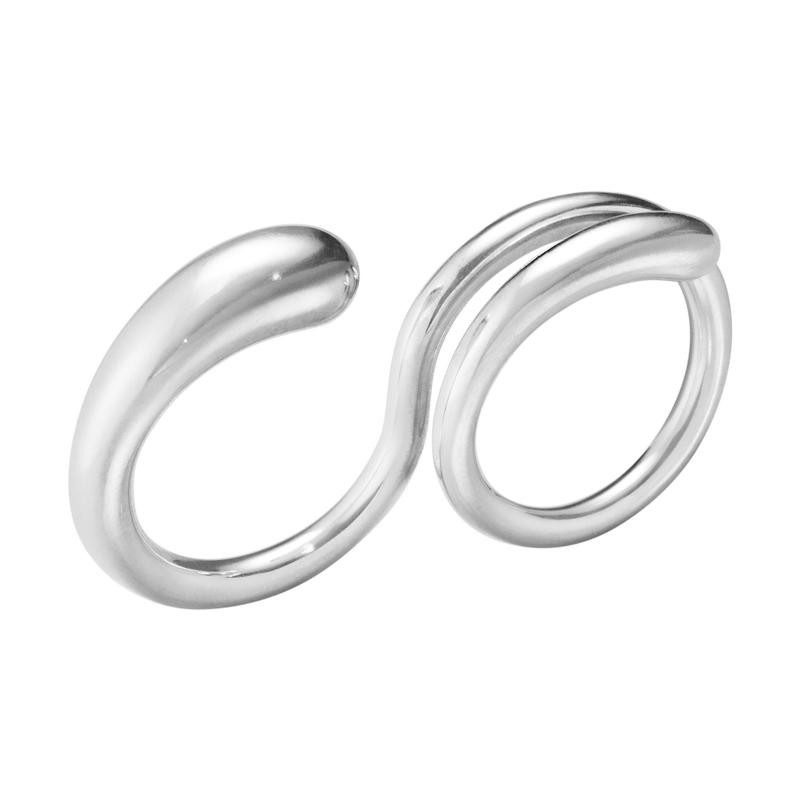 MERCY, double ring, sterling silver