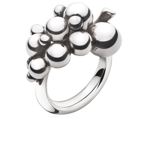 MOONLIGHT GRAPES ring - sterling silver, liten