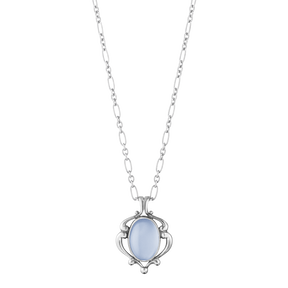 2019 HERITAGE pendant - sterling silver with blue chalcedony