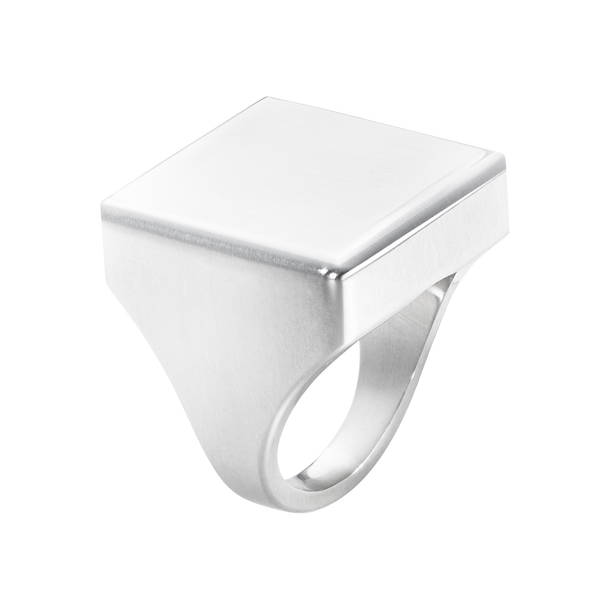 ARIA ring - square, sterling silver