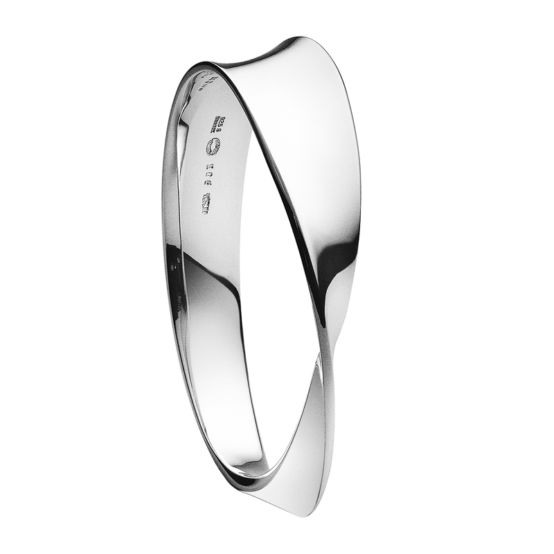 MÖBIUS Sterling Silver Bangle
