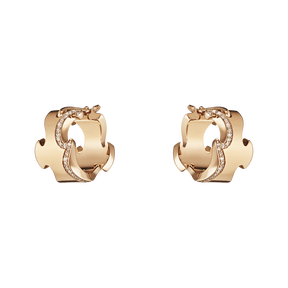 FUSION earrings - 18 kt. rose gold with brilliant cut diamonds