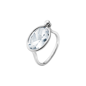 SAVANNAH ring – sterlingsilver med bergkristall, medium