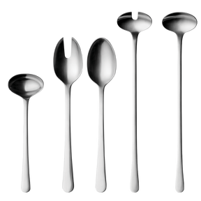 COPENHAGEN serving set, matte, stainless steel, 5 pcs.