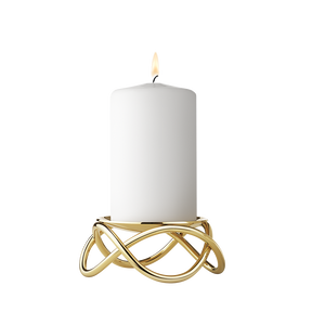 GLOW candleholder (18 kt. gold plated stainless steel)