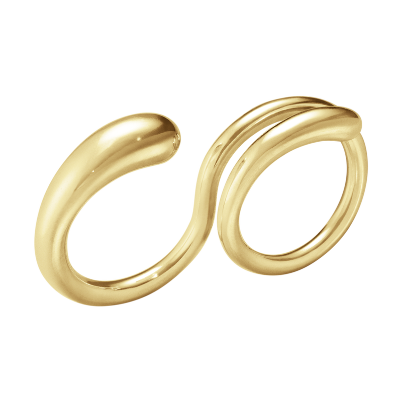 MERCY, Double ring - 18 kt. Yellow gold