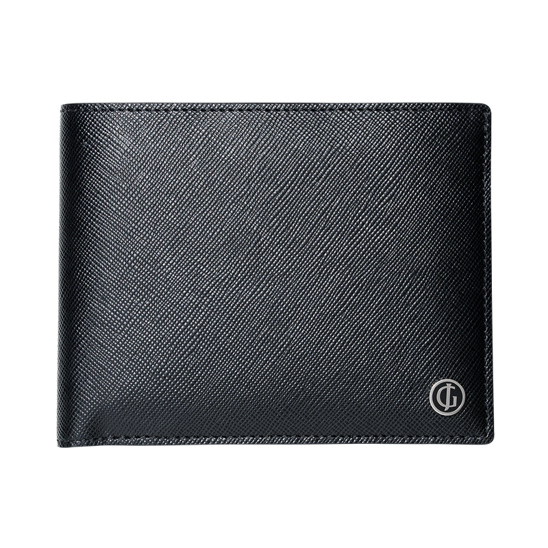 BUSINESS CLASSIC 4 card wallet with coin pocket, black and purple