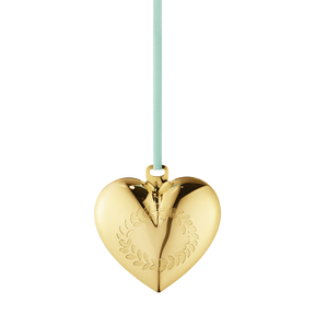 2016 Christmas Heart, gold plated