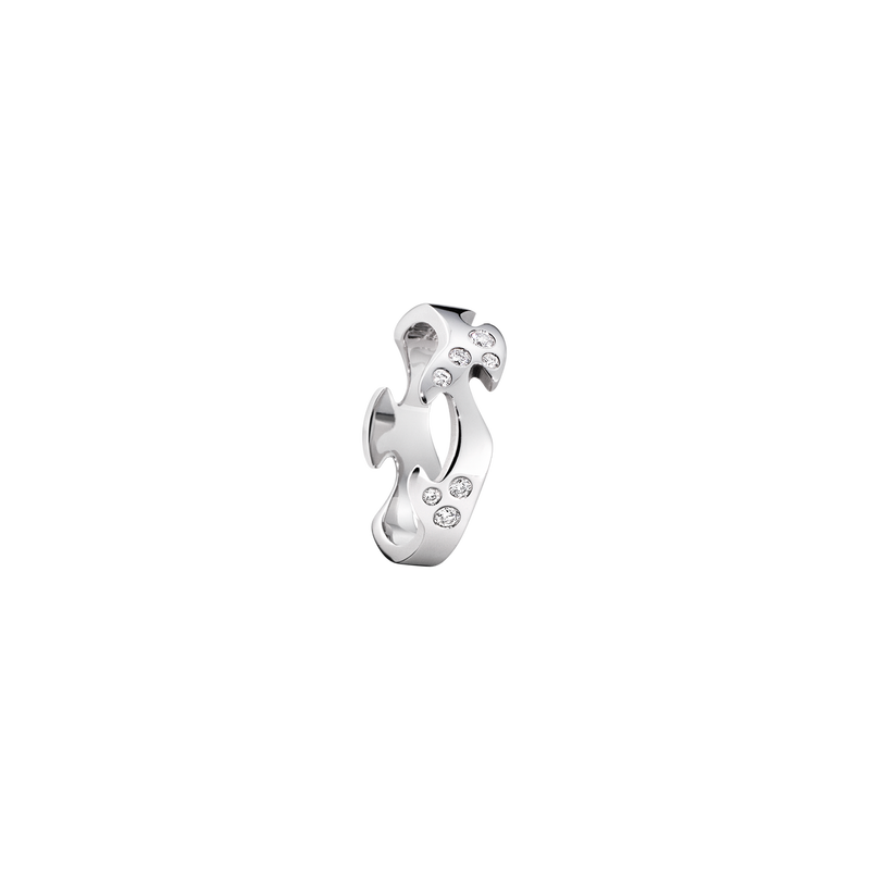 FUSION centre ring - 18 kt. white gold with brilliant cut diamonds
