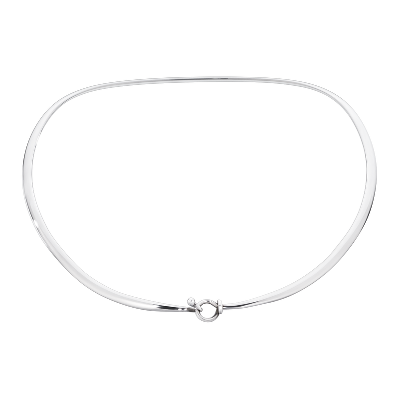 DEW DROP neckring - sterling silver