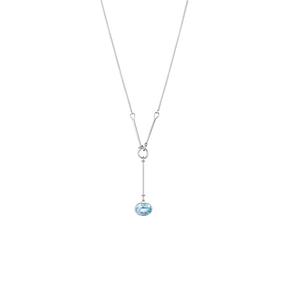 SAVANNAH pendant - sterling silver with blue topaz, 45 cm