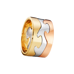 FUSION 3-piece ring - 18 kt. yellow gold, white gold and rose gold