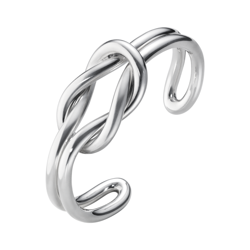 LOVE KNOT bangle - sterling silver