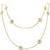 DAISY sautoir - gold plated sterling silver with enamel