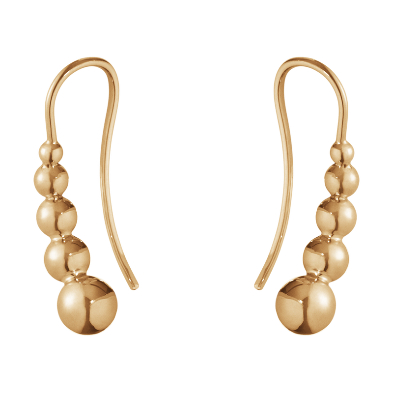 MOONLIGHT GRAPES earrings - 18 kt. rose gold