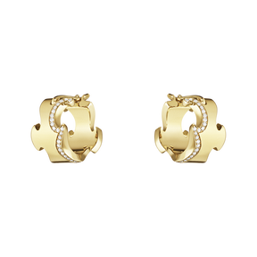 FUSION earrings - 18 kt. yellow gold with brilliant cut diamonds