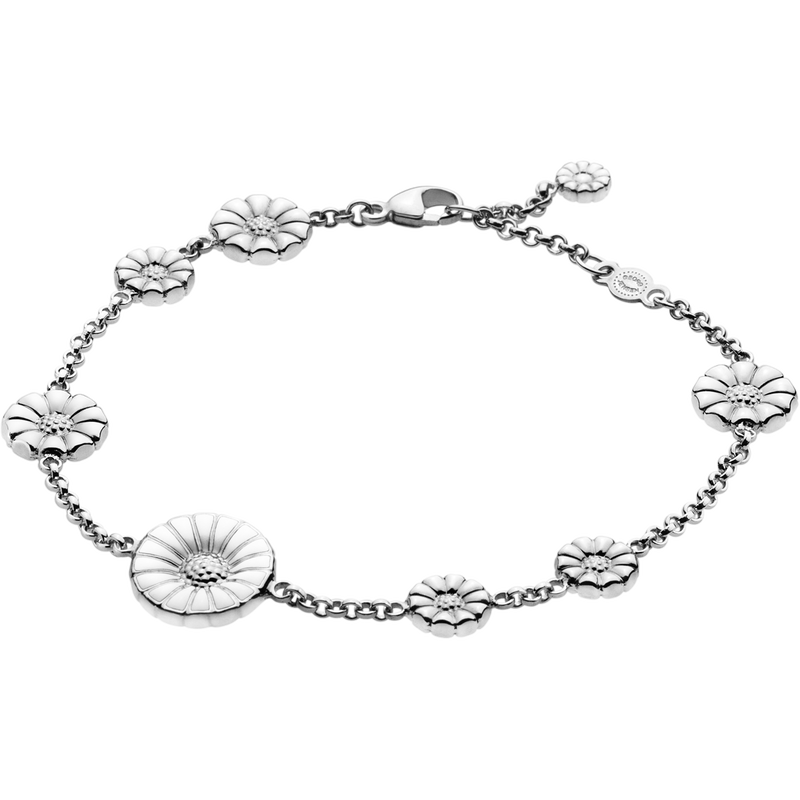 DAISY bracelet - rhodinated sterling silver with enamel