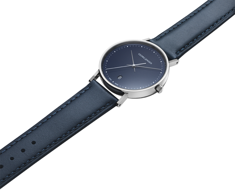 KOPPEL - 38 mm, Quartz, blue dial, blue leather strap
