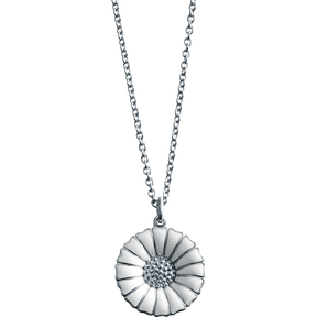 DAISY pendant - rhodinated sterling silver with white enamel