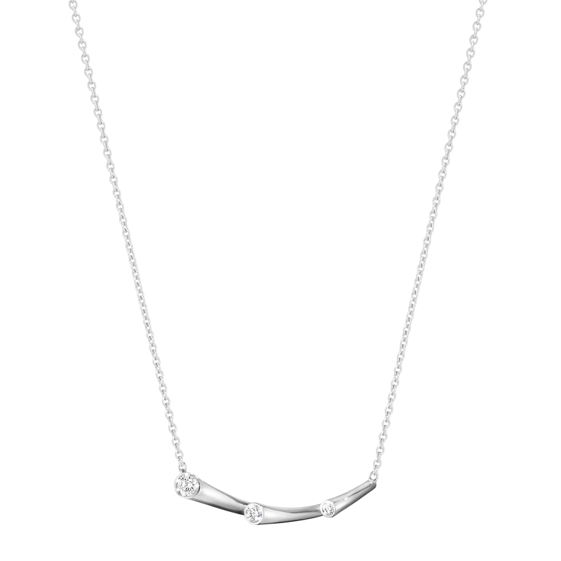 MAGIC pendant - 18 kt. white gold with brilliant cut diamonds