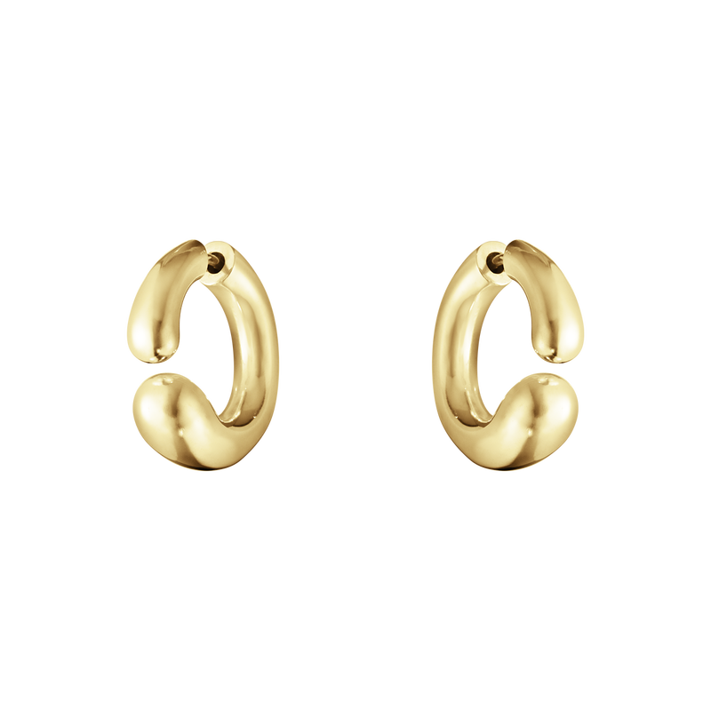 MERCY, Earhoops – 18 kt. Yellow gold