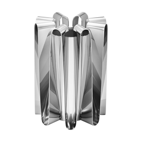 FREQUENCY vase, large - stainless steel
