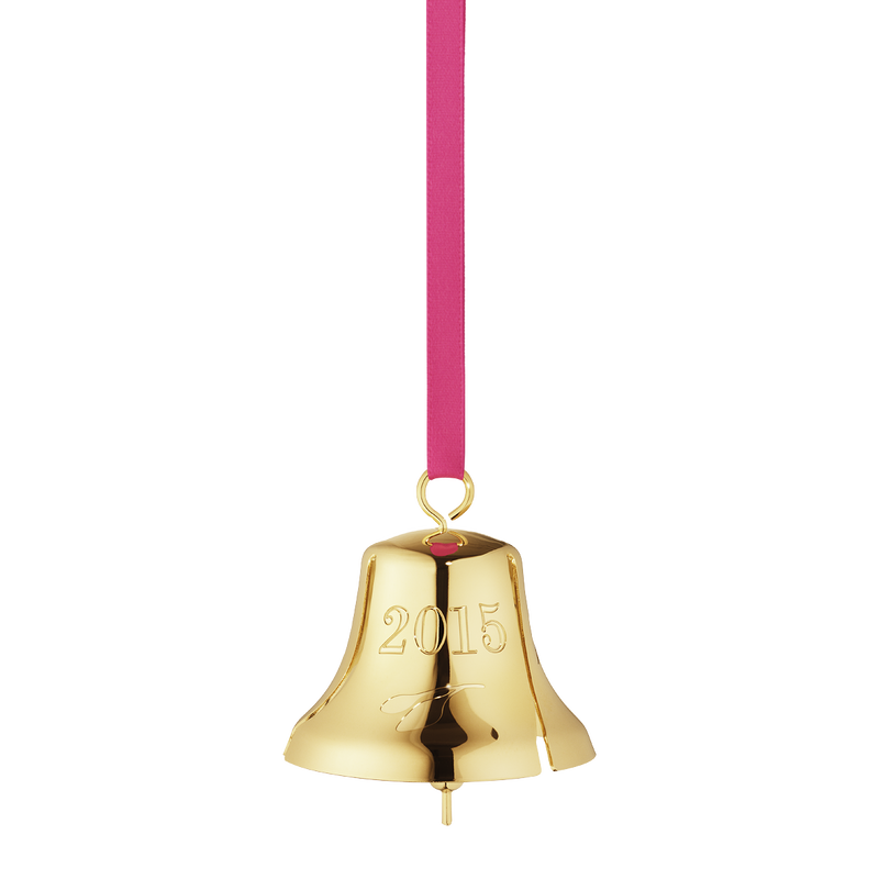 2015 Annual Christmas bell, gold plated