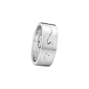 FUSION 2-piece ring - 18 kt. white gold