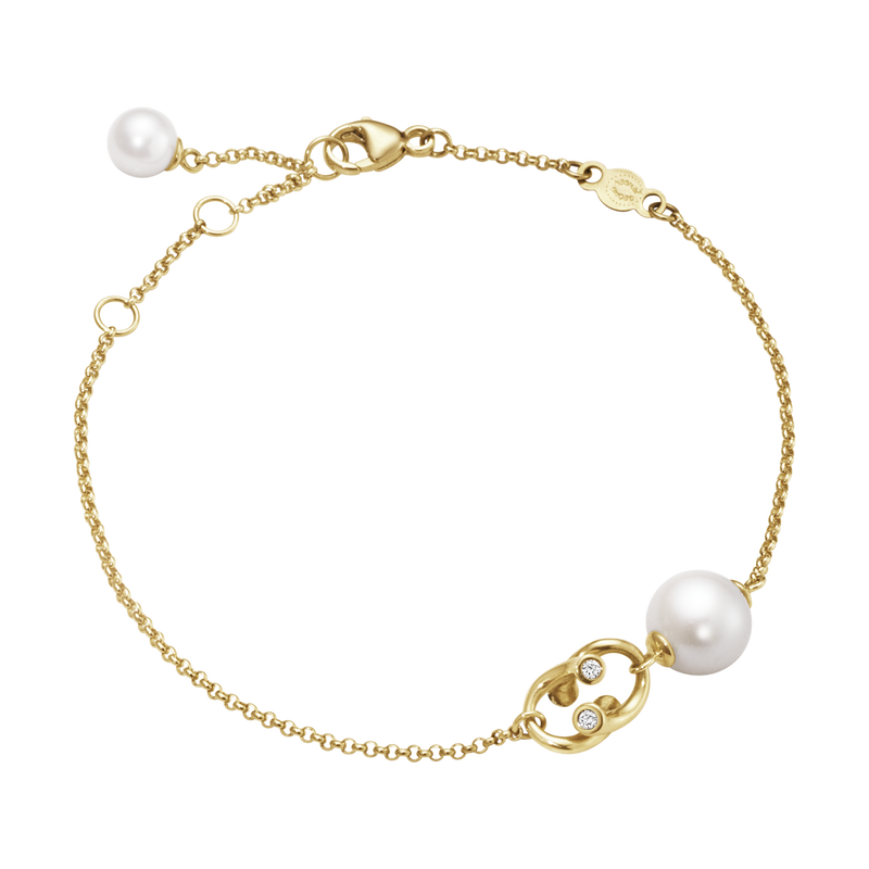 MAGIC bracelet - 18 kt. yellow gold with pearls and diamonds