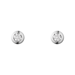 AURORA earrings - 18 kt. white gold with brilliant cut diamonds