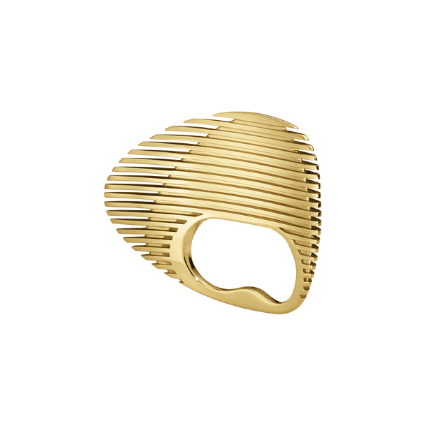 LAMELLAE Double Ring - 18 kt Gold