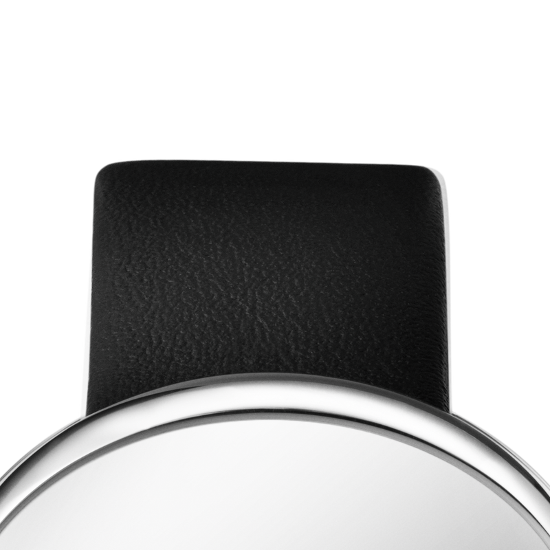 VIVIANNA OVAL Strap - 20 Mm, Black Calfskin
