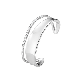 MARCIA bangle - sterling silver with brilliant cut diamonds