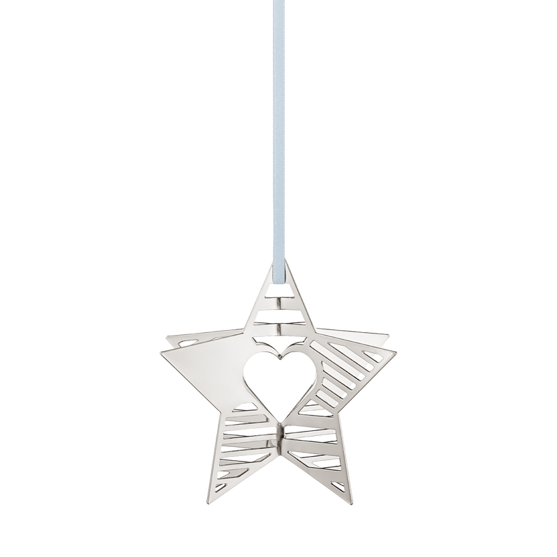 2019 Holiday Ornament, Star - Palladium Plated